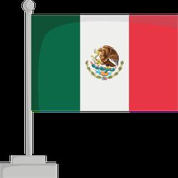 National Flag Of Mexico Sticker