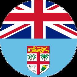 National Flag Republic Of Fiji Circle Sticker