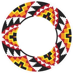 Native American Circle Ornament Sticker