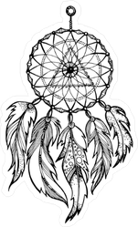 Native American Dream Catcher Illustration Sticker