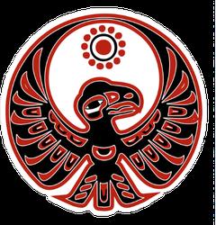 Native American Eagle and Sun Sticker