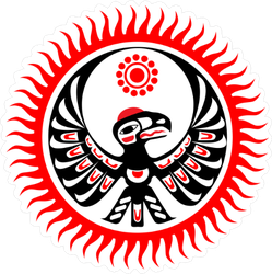 Native American Image of Eagle And Sun Sticker