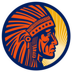 Native American Indian Chief Warrior Sun Sticker