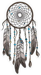 Native American Indian Dream Catcher Sticker