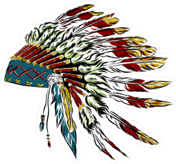 Native American Indian Headdress Sticker