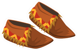 Native American Indian Moccasins Sticker