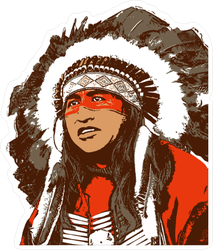 Native American Man Sticker