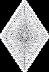 Native American Pattern Diamond Sticker