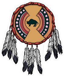 Native American Shield With Feathers Sticker