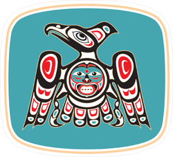 Native American Style Eagle Sticker