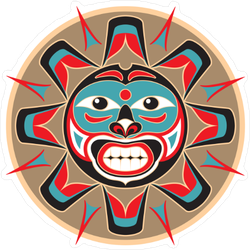 Native American Sun Sticker