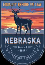 Nebraska Banner Sticker