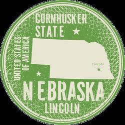 Nebraska Cities Circle Sticker
