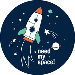 Need My Space Spaceship Sticker