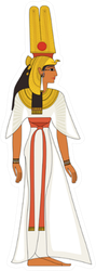 Nefertiti , Egyptian Ancient Symbol, Sticker