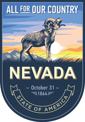 Nevada Banner Sticker