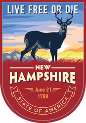 New Hampshire Banner Sticker