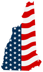 New Hampshire Patriotic State Sticker