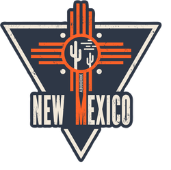 New Mexico Cactus Cross Sticker