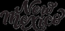 New Mexico Calligraphy Sticker