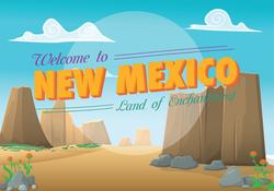New Mexico Postcard Sticker
