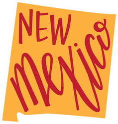 New Mexico State Hand Lettering Dad