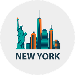 New York City Skyline Flat Design Sticker