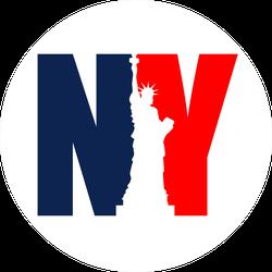 New York NY Statue of Liberty Sticker