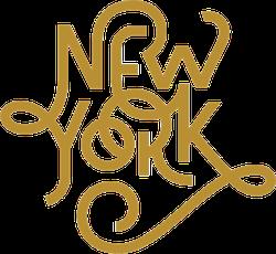 New York Retro Typography Sticker