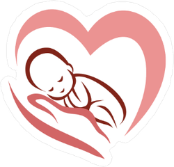 Newborn Baby in Heart Sticker