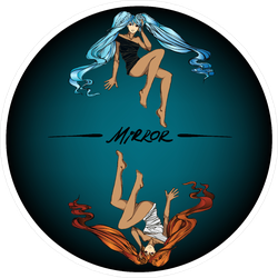 Nifty Fashion Fairy Girl Mirror Anime Sticker