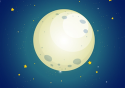 Night Sky Moon Sticker