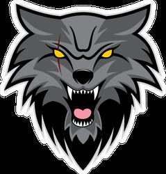 Night Wolf Vector Logo Sticker