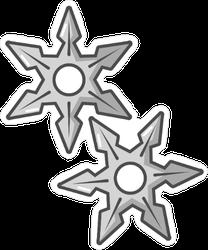 Ninja Stars Sticker