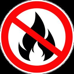 No Fire Sign Circle Sticker