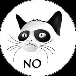 NO Grumpy Cat Meme Sticker