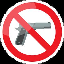 No Gun Sign Sticker
