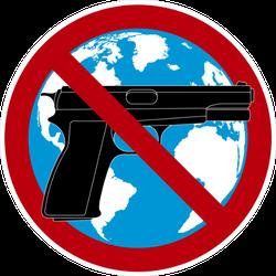 No Guns on Earth Sticker