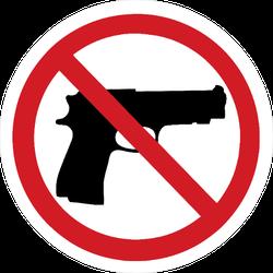 No Guns Sign Sticker