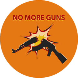 No More Guns Circle Sticker