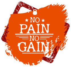 No Pain No Gain Fitness Sticker