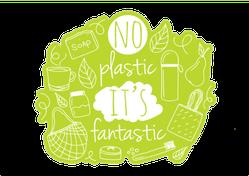 No Plastic It's Fantastic Sticker