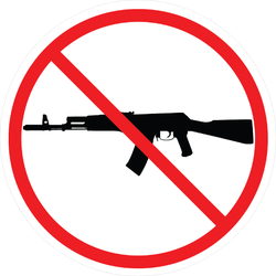No Rifles Gun Control Sticker