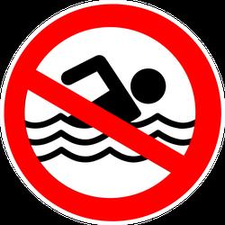 No Swimming Hazard ,warning Sign Sticker