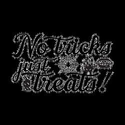 No Tricks, Just Treats Sticker