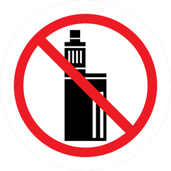 No Vaping Sign Sticker