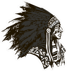 North American Indian Chief Sticker