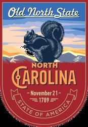 North Carolina Banner Sticker