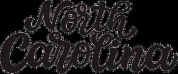 North Carolina Calligraphy Sticker