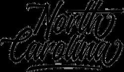 North Carolina Fancy Script Sticker